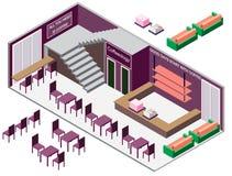 Ejemplo del concepto interior infographic del sitio Foto de archivo libre de regalías