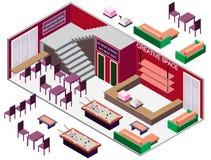 Ejemplo del concepto interior infographic del sitio Imagenes de archivo