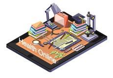 Ejemplo del concepto médico en línea gráfico de la información Imagen de archivo libre de regalías