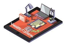 Ejemplo del concepto médico en línea gráfico de la información Fotografía de archivo libre de regalías