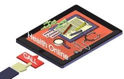 Ejemplo del concepto médico en línea gráfico de la información Imágenes de archivo libres de regalías