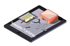 Ejemplo del concepto médico en línea gráfico de la información Fotos de archivo libres de regalías