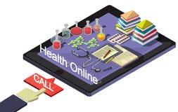 Ejemplo del concepto médico en línea gráfico de la información Foto de archivo libre de regalías