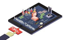 Ejemplo del concepto médico en línea gráfico de la información Imagen de archivo