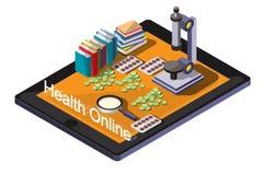 Ejemplo del concepto médico en línea gráfico de la información Foto de archivo