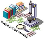 Ejemplo del concepto médico gráfico de la información Foto de archivo libre de regalías