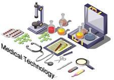 Ejemplo del concepto médico gráfico de la información Imagen de archivo