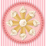 Ejemplo del cono de helado suave del servicio Fotos de archivo