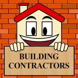 Ejemplo del constructor 3d de Real Estate de las demostraciones de los contratistas de obras Imagen de archivo