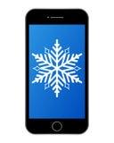 Ejemplo del copo de nieve del teléfono Imágenes de archivo libres de regalías