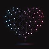 Ejemplo del corazón atómico moderno Imágenes de archivo libres de regalías