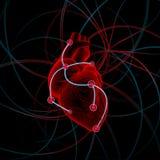 Ejemplo del corazón con impulsos ilustración del vector