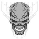 Ejemplo del cráneo del robot stock de ilustración
