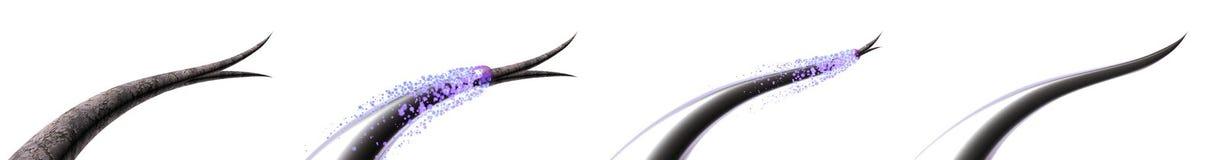 Ejemplo del cuidado del cabello 3D Tratando y previniendo extremos partidos del pelo Reparación total de la raíz a inclinar Antes libre illustration