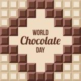 Ejemplo del día del chocolate del mundo stock de ilustración