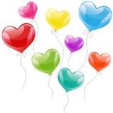 Ejemplo del día de fiesta del vector de volar el globo colorido Foto de archivo libre de regalías