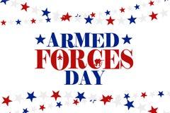 Ejemplo del día de fuerzas armadas de arma ilustración del vector