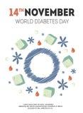 Ejemplo del día de la diabetes Imágenes de archivo libres de regalías