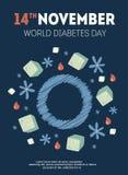 Ejemplo del día de la diabetes Fotografía de archivo