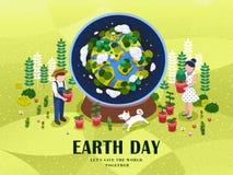 Ejemplo del Día de la Tierra stock de ilustración