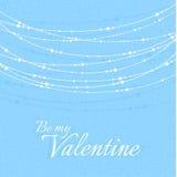 Ejemplo del día de tarjeta del día de San Valentín con delicado Fotos de archivo libres de regalías