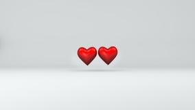 Ejemplo del día de tarjetas del día de San Valentín del fondo del corazón 3d libre illustration