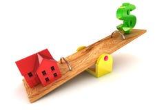 Ejemplo del dólar de la deuda de la vivienda Foto de archivo libre de regalías