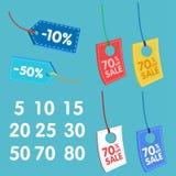 Ejemplo del descuento del precio para el supermercado Imagen de archivo libre de regalías