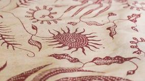 Ejemplo del dibujo abstracto en la tela fotografía de archivo libre de regalías