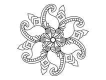 Ejemplo del diseño blanco y negro del tatuaje libre illustration