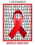 Ejemplo del diseño del Día Mundial del Sida Imagenes de archivo