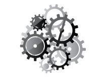 Ejemplo del diseño de los engranajes stock de ilustración