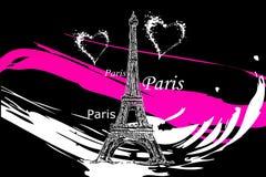 Ejemplo del diseño del arte de París libre illustration