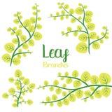 Ejemplo del diseño del vector de las ramas de la hoja aislado en el fondo blanco libre illustration