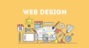 ejemplo del diseño web ilustración del vector