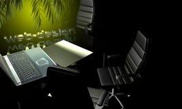ejemplo del diseño web 3D de la rutina diaria stock de ilustración