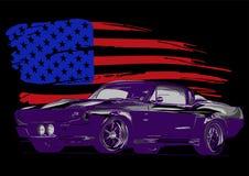 Ejemplo del dise?o gr?fico de vector de un coche americano del m?sculo imágenes de archivo libres de regalías