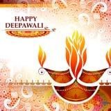 Ejemplo del diya adornado para el fondo feliz del día de fiesta de Diwali