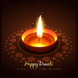 Ejemplo del diya de Diwali