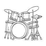Ejemplo del drenaje de la mano del vector del tambor libre illustration
