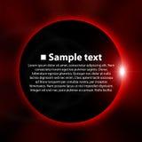 Ejemplo del eclipse Fotografía de archivo libre de regalías