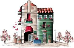Ejemplo del edificio stock de ilustración