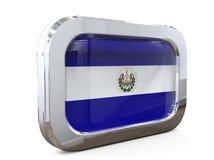 Ejemplo del EL Salvador Button Flag 3D Imágenes de archivo libres de regalías