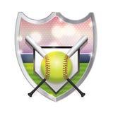 Ejemplo del emblema del softball libre illustration