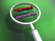 Ejemplo del entrenamiento y de la certificación ilustración del vector