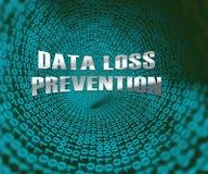Ejemplo del escudo 3d de la seguridad de la Data Loss Prevention stock de ilustración