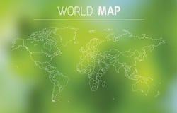 Ejemplo del esquema del mundo Imágenes de archivo libres de regalías