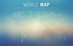 Ejemplo del esquema del mundo Foto de archivo libre de regalías