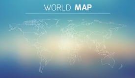 Ejemplo del esquema del mundo Fotografía de archivo libre de regalías