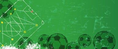 Ejemplo del estilo del grunge del fútbol o del fútbol Foto de archivo libre de regalías